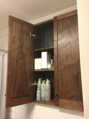 Custom Made Walnut Bathroom Cabinet