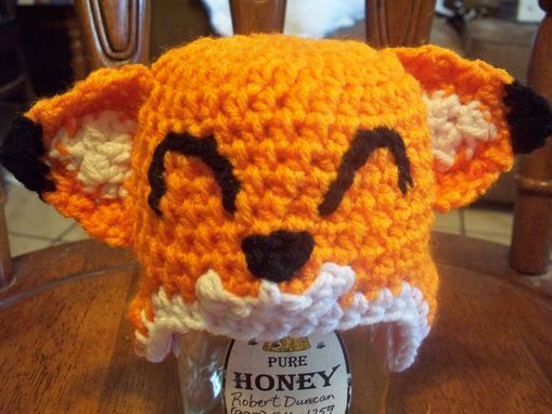 Custom Made Crochet Fox Baby Beanie