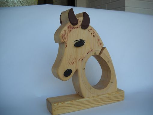 Custom Made Wood Horse Head Savings Bank