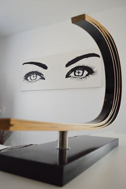 Custom Made Large Abstract Eyes Painting