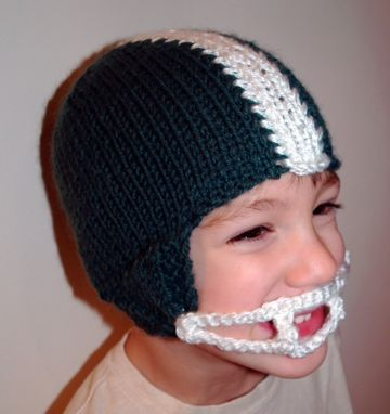 Handmade Knit Pattern Football Helmet Hat Pdf By Tracey Knits