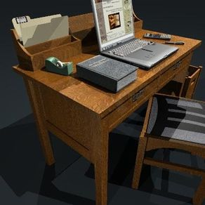 Mission style arts crafts style craftsman style for Craftsman style desk plans