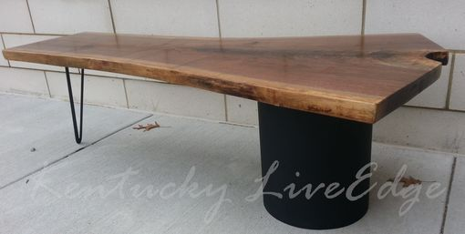 Custom Made Walnut Table- Modern Coffee Table- Live Edge Coffee Table- Contemporary- Industrial- Coffee Table