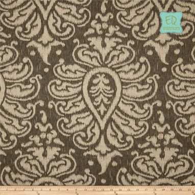 Custom Made Custom Curtain Panels In Lacefield Carmen In Pewter Gray Damask Medallion 84l X 50w