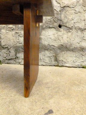 Custom Made Walnut Pinned Mortise & Tenon Hall, Bedroom Bench