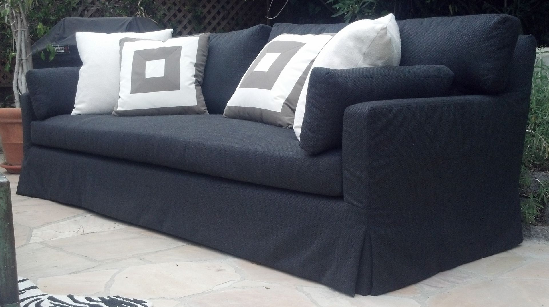 Custom Outdoor Slipcover Sofa by heaven antique and custom