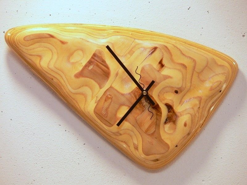 Handmade Triangle Wood Clock By Custom Handcrafted