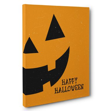 Custom Made Pumpkin Happy Halloween Canvas Wall Art