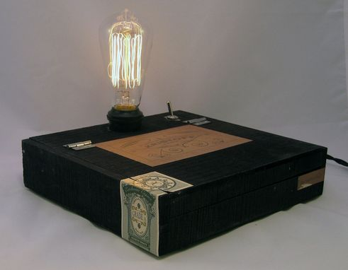 Custom Made Cigar Box Desk Lamp: Kristoff