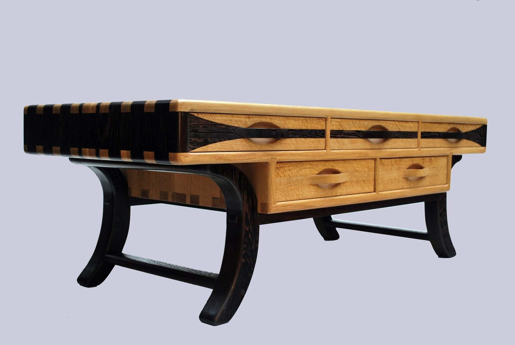 Custom White Oak And Wenge Coffee Table By Jon S Manss Woodworks