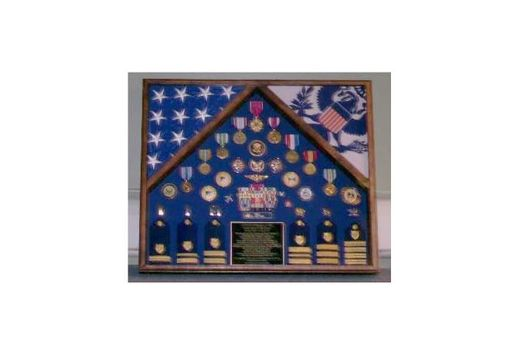 Custom Made Military 2 Flag Shadow Case, 2 Flag Military Flag Display Case