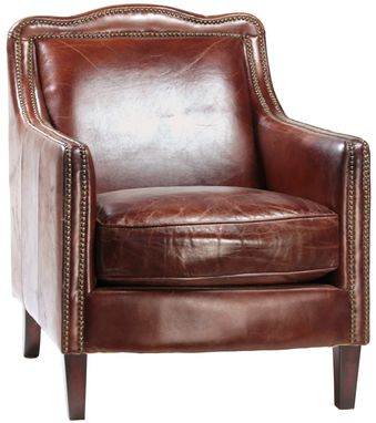 Custom Made Library Leather Club Chair