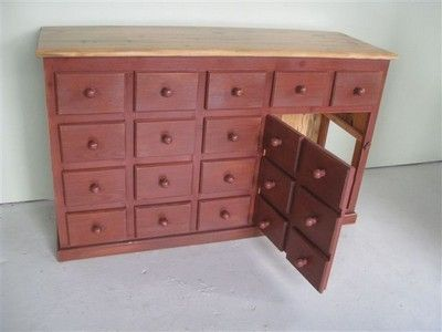 Custom Made Custom 14 Drawer Barn Wood Server
