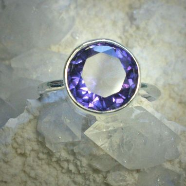 Custom Made Large Amethyst Ring