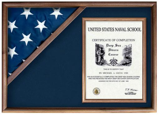 Custom Made Flag And Military Insignia Display Cases