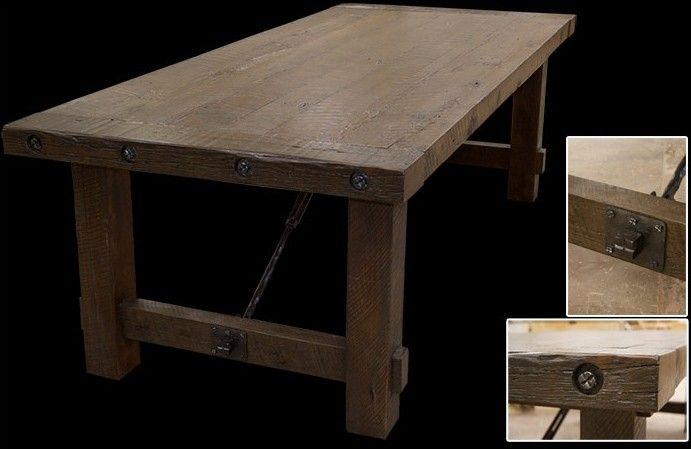 Hand Made Turnbuckle Dining Table By Misty Mountain
