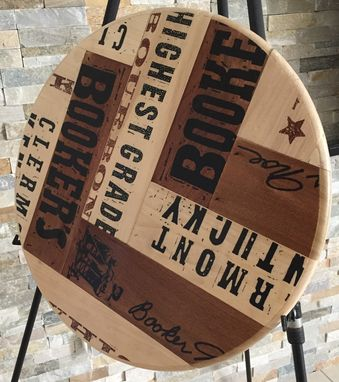 Custom Made Artisan Lazy Susan Original Bourbon Booker's 20