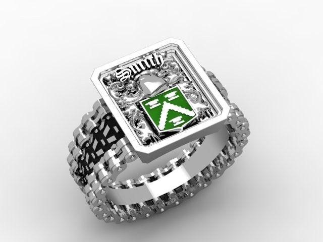 Hand Made Irish Family Crest Ring By Paul Michael Design
