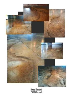 Custom Made Acid Stained Concrete