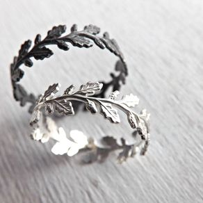 oak leaf ring silver silver eternity ring by claudia fernandes - Leaf Wedding Ring