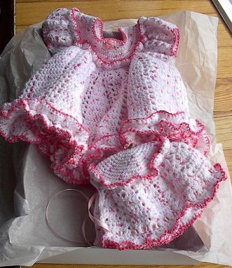Custom Made Crocheted Baby Dresses