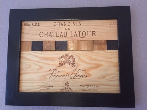 Custom Made Wine Panels, Wine Barrels Frame Art