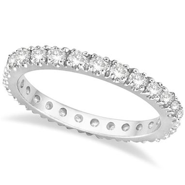 Custom Made 0.51ct Diamond Eternity Wedding Ring Band 14k Gold