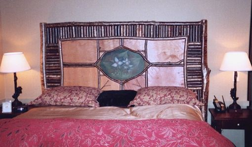 Custom Made Rustic Headboard With Oil Painting