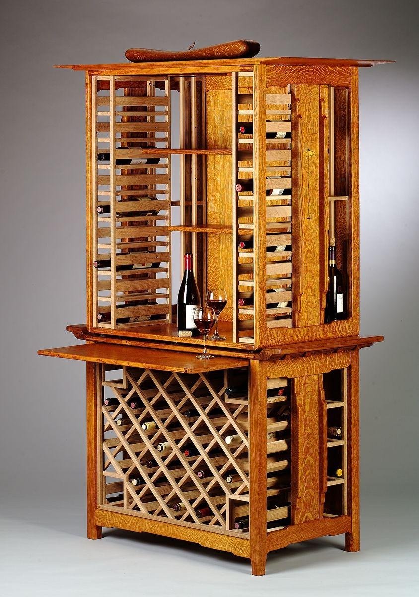 Custom Vineyard Wine Rack Cabinet by Mission Evolution ...