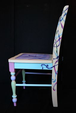 Custom Made Hand Painted Trompe L'Oeil Accent Chair