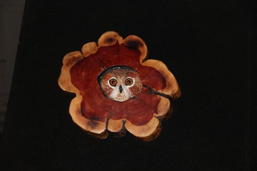 Custom Made Owl Hand Carved And Sculpted In Red Cedar Bark