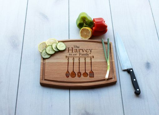 Custom Made Personalized Cutting Board, Engraved Cutting Board, Custom Wedding Gift – Cba-Wo-Harvey