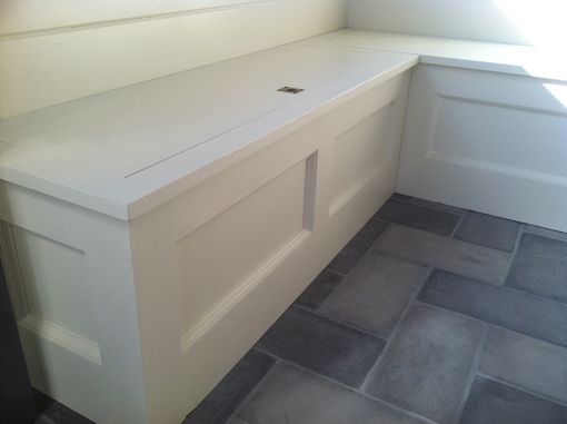 Custom Made Built-In Storage Bench