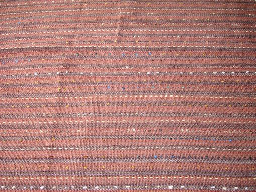 Custom Made Hand Woven Fabric With Supplemental Warp