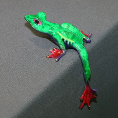 Custom Made Fantastic Bronze Frog Figurine Statue Sculpture Art / Limited Edition / Signed & Numbered