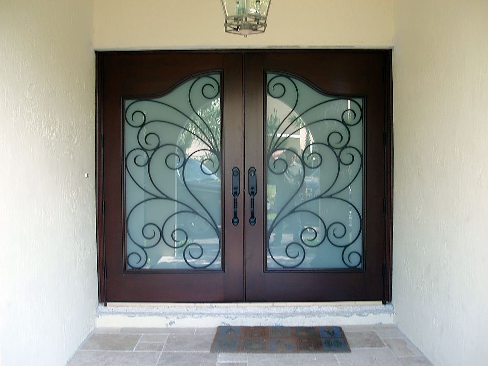Custom Made Solid Mahogany Entry Door By Deco Design Center