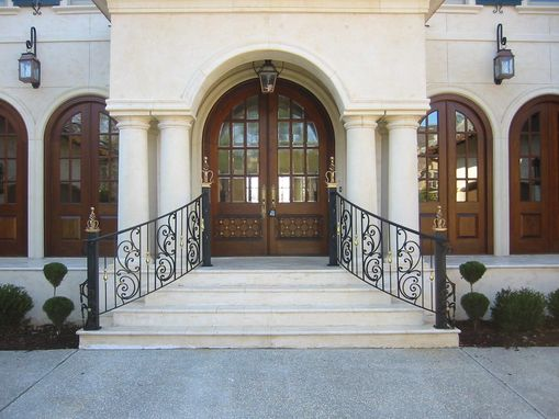 Custom Made Custom Curved Wrought Iron Hand Rails
