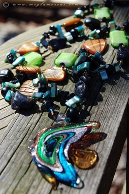 Custom Made Multi Glass Fish Necklace