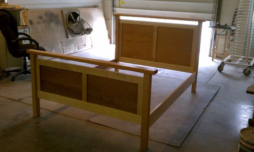 Custom Made Maple/Cherry Platform Bed