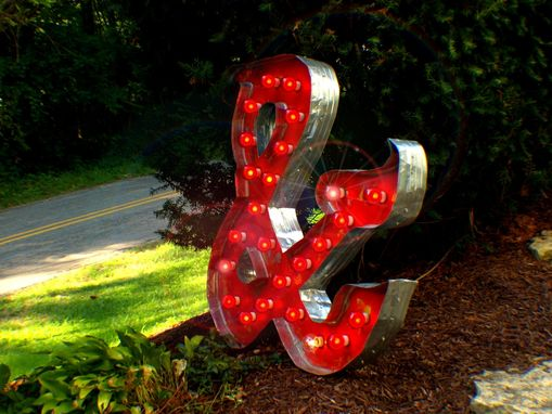 Custom Made Marquee Letter & Ampersand Vintage Art By Aranacci Fixture 3ft X 3ft