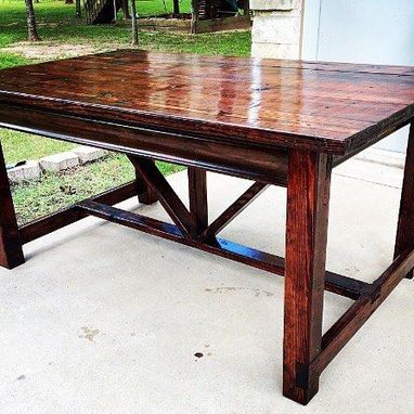 Custom Made Farm-Style Dining Room Table