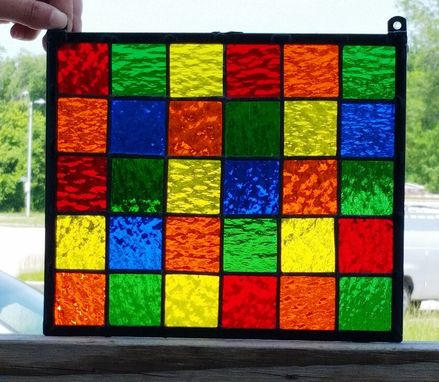 Custom Made Tiny Squares - Small Hanging Panel (G-22)