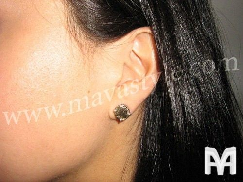 Custom Made Sterling Silver And Gold Native American Coin Earrings