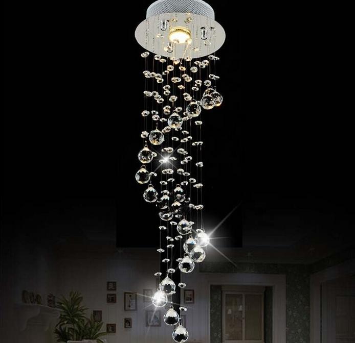 Buy A Custom Made Modern Spiral Crystal Led Chandelier