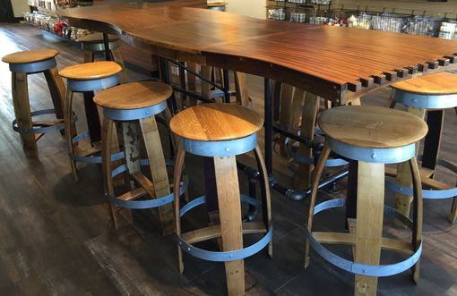 Custom Made Barrel Stave Bar Top Kitchen Counter Dining