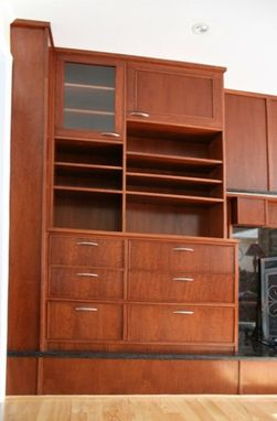 Custom Made Mahogany Built-In Entertainment Center