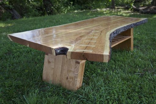 Custom Made Cherry Crotchwood Coffee Table