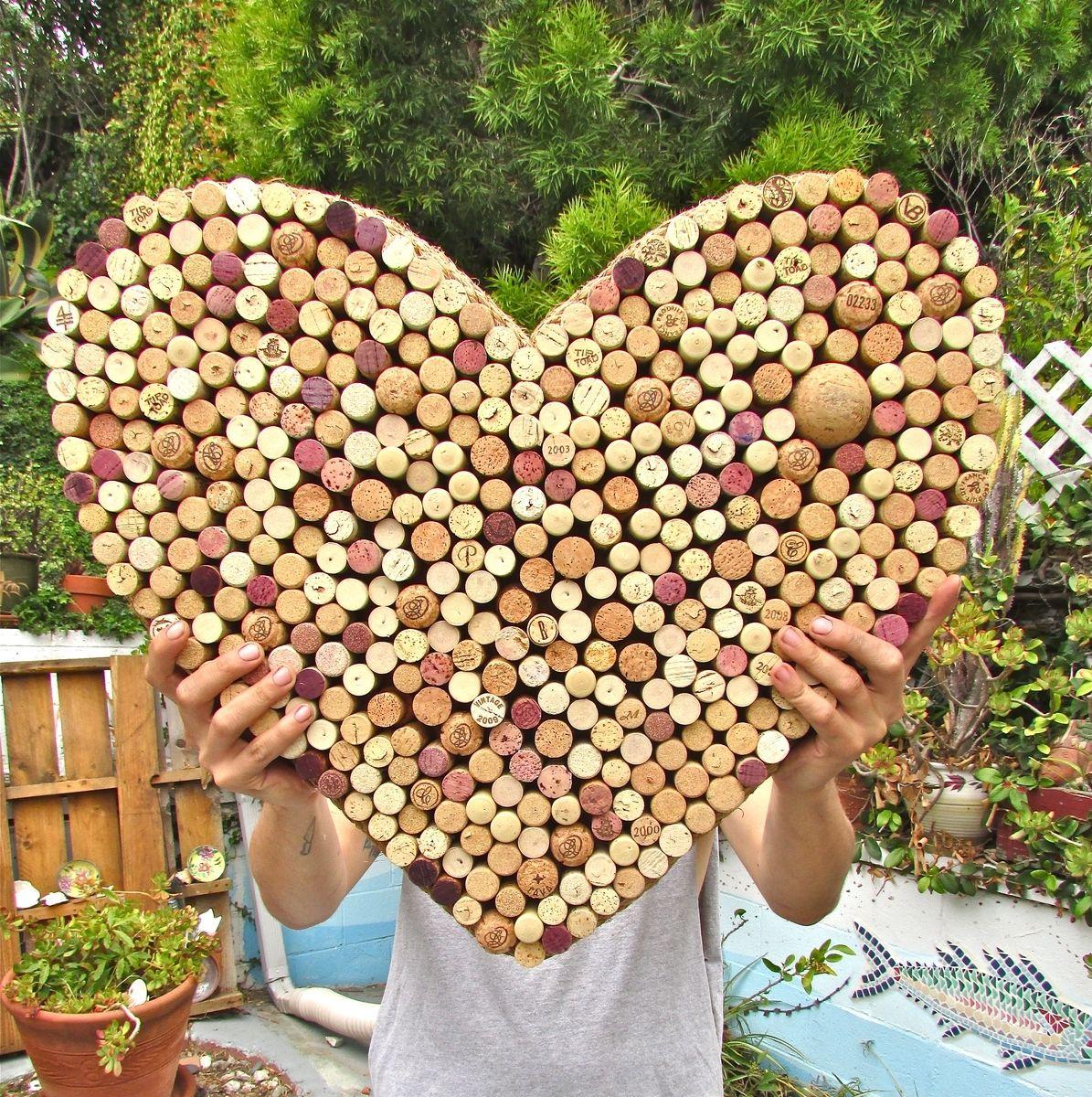 Custom Heart Shaped CorkPin Boards Using Recycled Wine