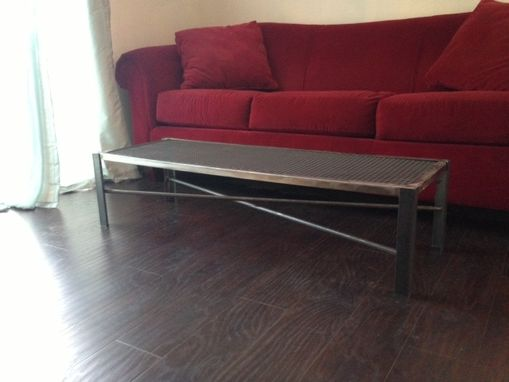 Custom Made Industrial Steel Coffee Table