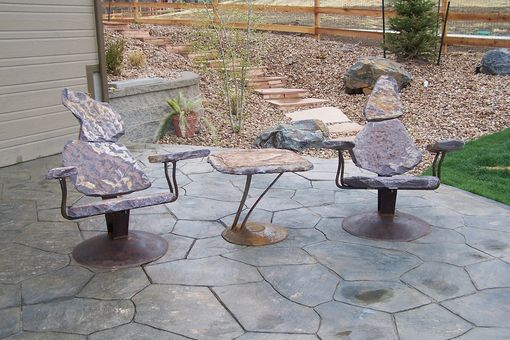 Custom Made Deep Seating 3 Piece Set In Idaho Gray